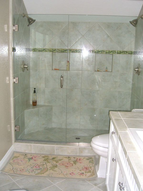 bathroom dual shower pics | guest bathroom shower. dual shower