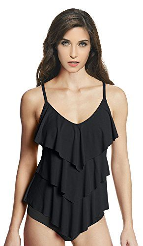 b7026ce755b Ebuddy Suit Women s Rita Tiered Bikini Tankini Top - Bathing Suits
