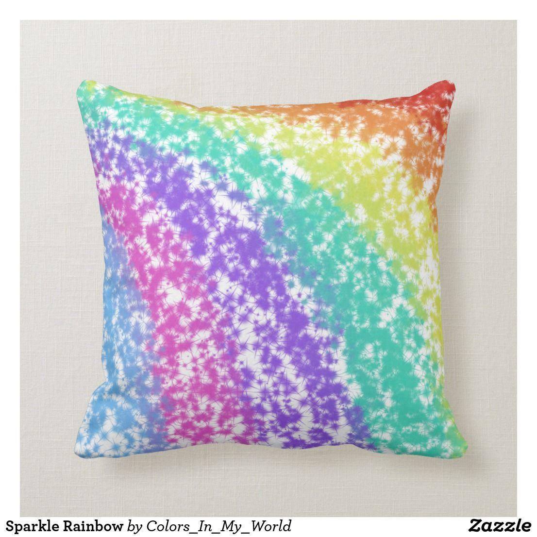 Astounding Sparkle Rainbow Throw Pillow Zazzle Com Zazzle Pillow Uwap Interior Chair Design Uwaporg