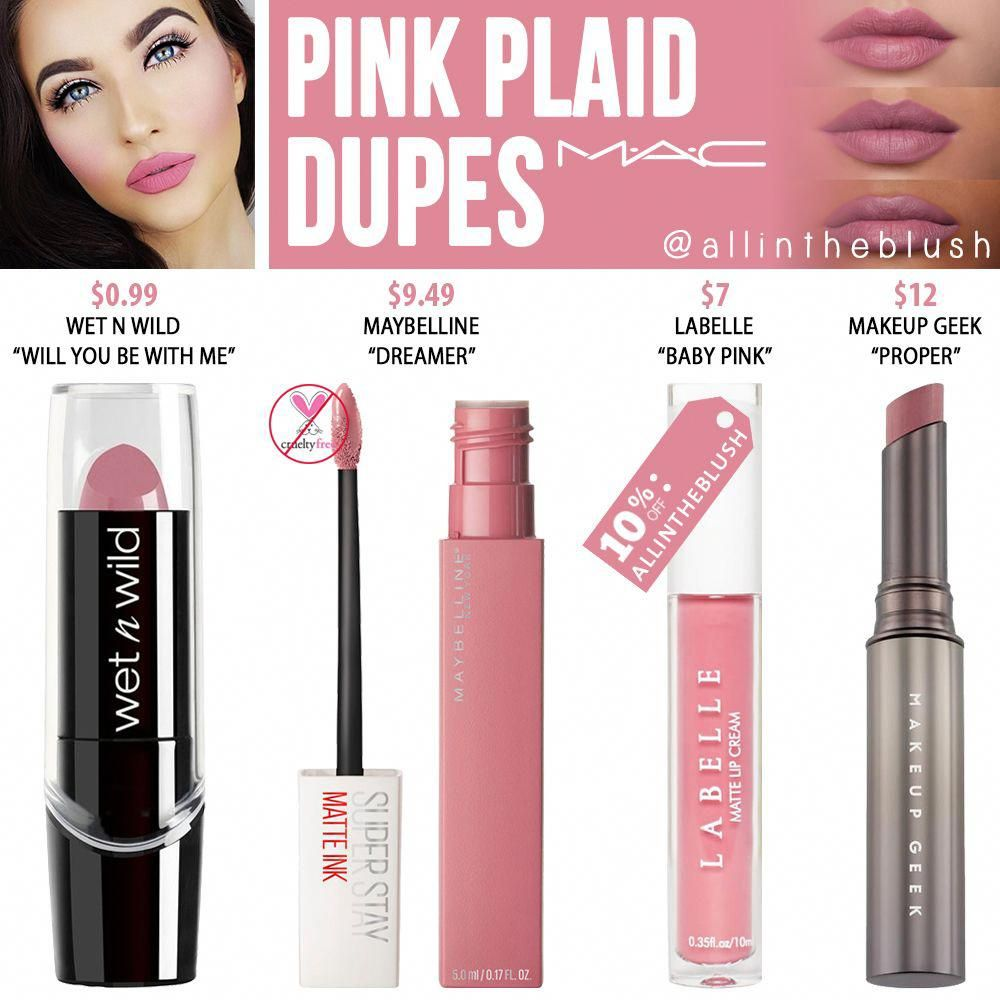 Photo of MAC Pink Plaid Lipstick Dupes – All In The Blush