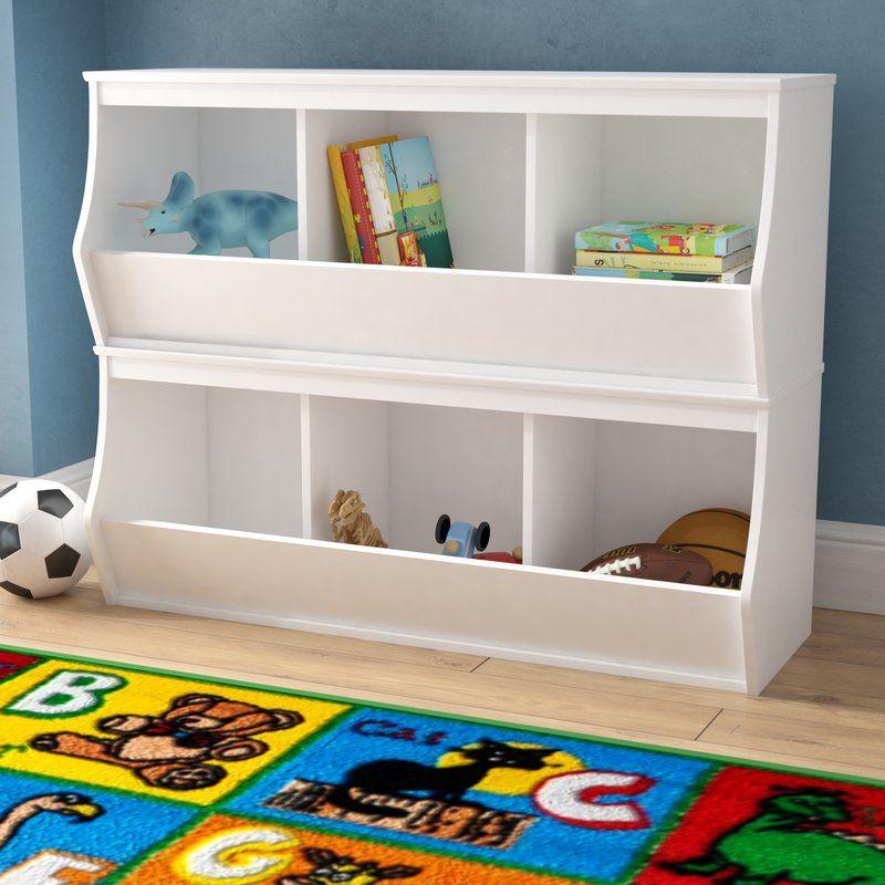 Leonor Manufactured Wood Organizer Cubby Storage Storage Bins Toy Storage Bins