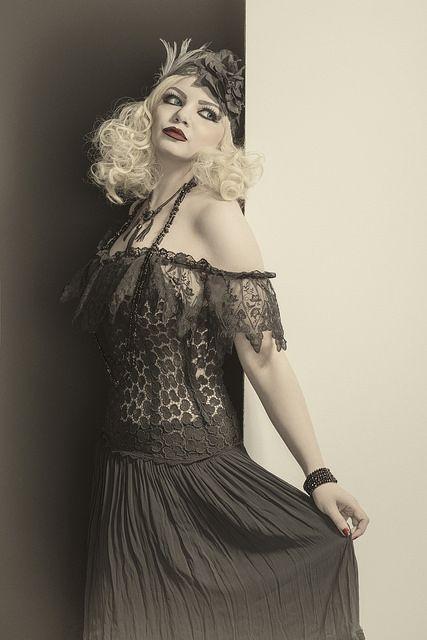 Platinum Blonde | by Azadeh Brown #1920s #1930s #artdeco #artnova #greatgatsby #cabaret #showgirl #hollywood  #silentmovie #silverscreen #boudoir #louisebrooks #azadeh #azadehbrown #goth #gothmodel #alternative #alternativemodel #gothfashion #gothic #darkphotography #burlesque #elegant #model #modelling #vogue #persianmodel #persian #beauty #makeup #darkbeauty #vintage #eyes #fashion #femmefatale
