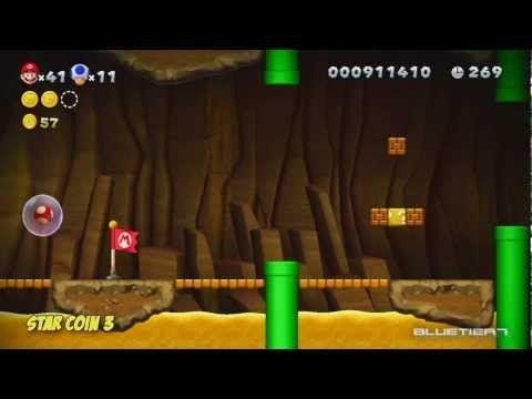 New Super Mario Bros. U - (Co-op) Layer-Cake Desert-2 | Perilous Pokey Cave Star Coins
