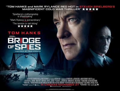 In which we go to the cinema to see Bridge of Spies.... #writinglife