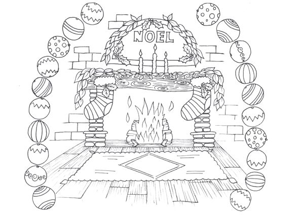 christmas fireplace coloring pages google search christmas fireplace fireplaces coloring pages fire