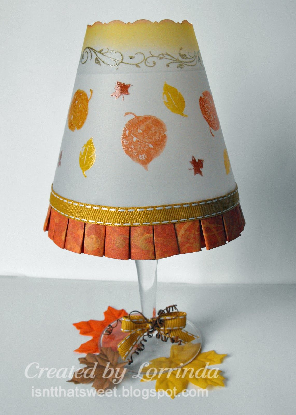 P3 Challenge 11 1 10 Wineglass Candle Lampshade With Images Candle Lampshade Wine Glass Lamp Candle Shades