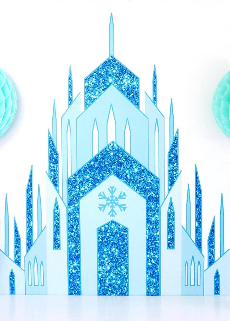 Ice Princess Castle Large Printable Poster Frozen Birthday Theme Frozen Backdrop Disney Frozen Birthday Party