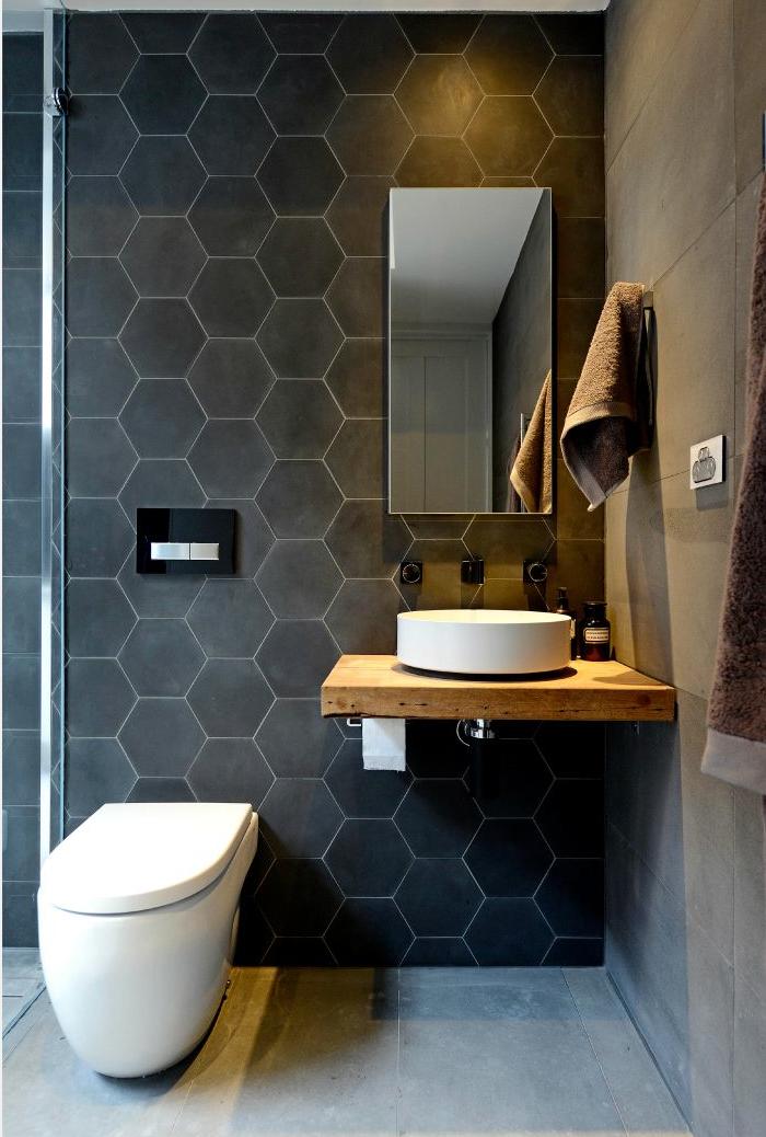 Colori bagni bathrooms pinterest salle de bain scandinave petite salle de bain e bain - Piastrelle grigie bagno ...