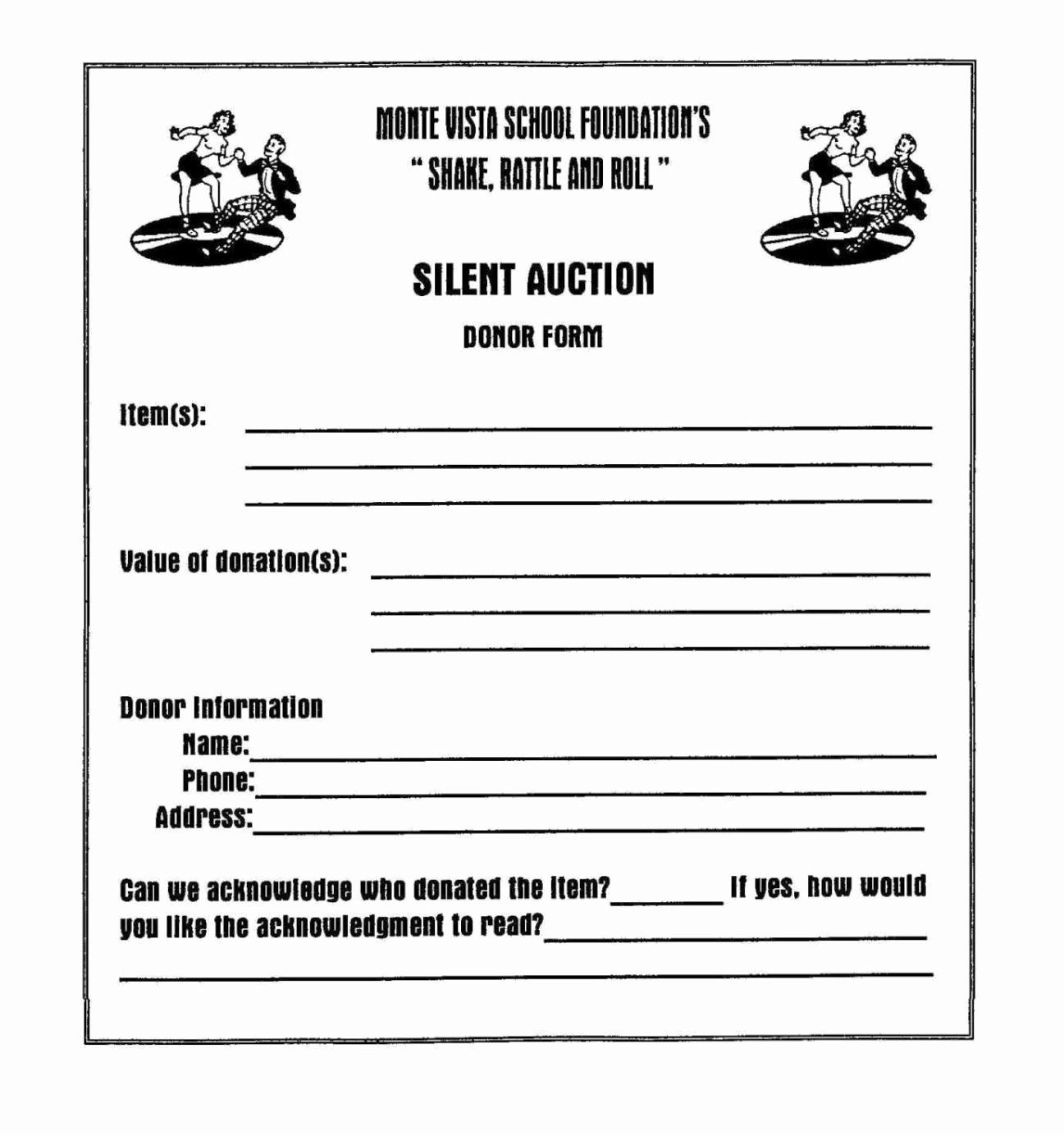 Silent Auction Donation Form Template Beautiful Silent Auction Donation Form Template Sam Silent Auction Donations Auction Donations Sample Fundraising Letters
