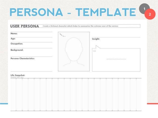 Design Thinking Persona Template
