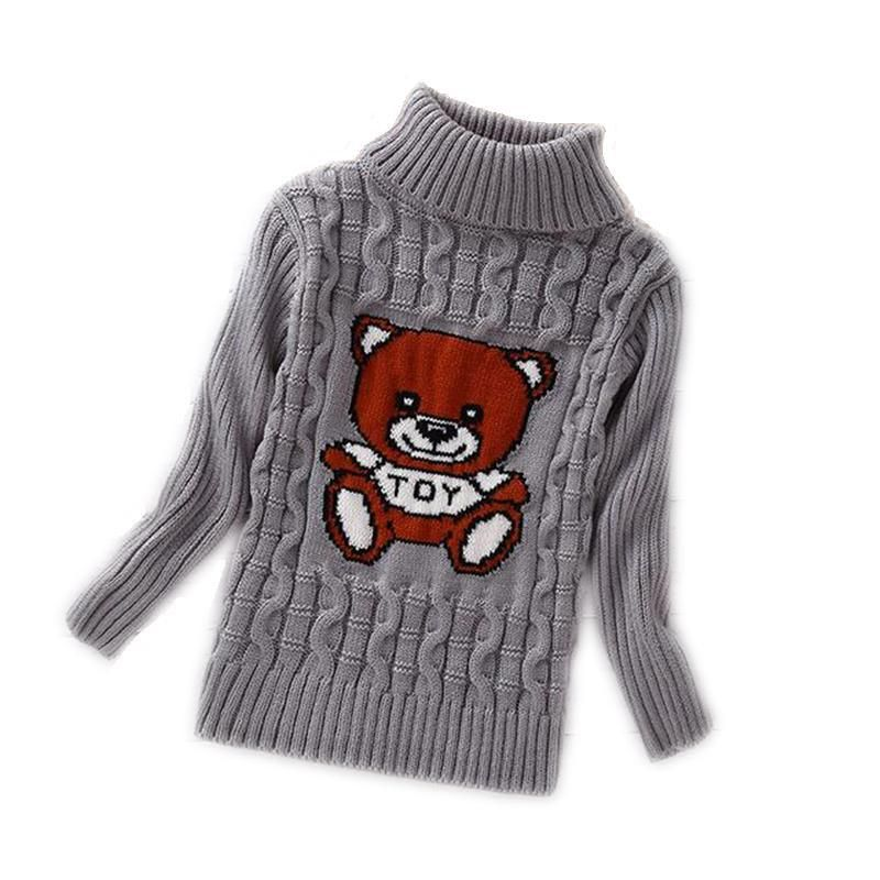 35413e43d Boys Girls Turtleneck Solid Baby Kids Sweaters Soft Warm Sueter ...