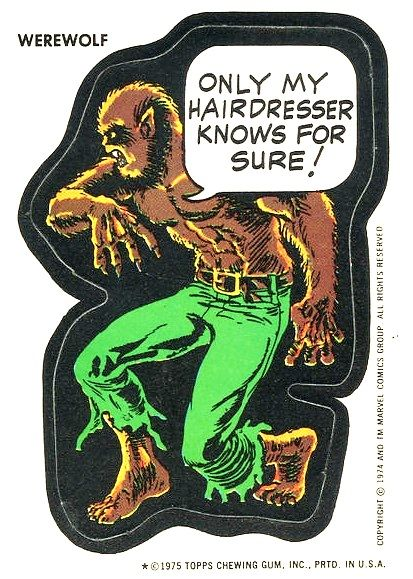 1975 werewolf sticker
