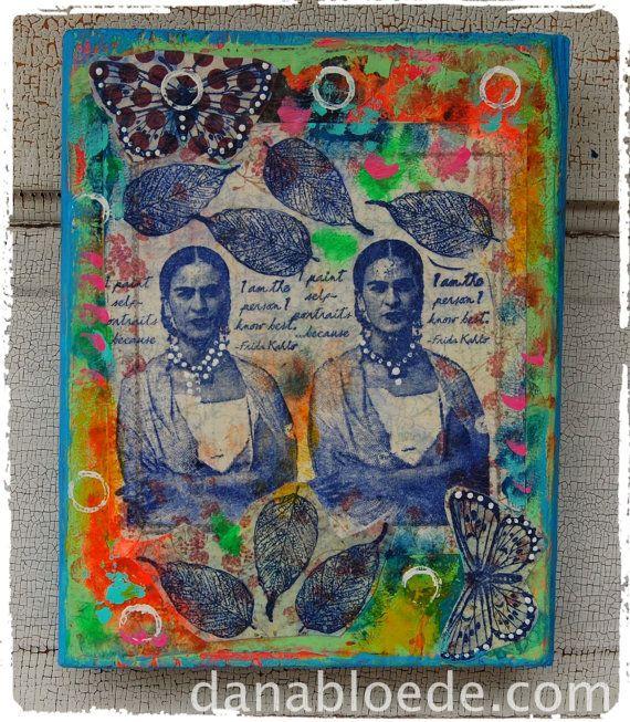 Frida Kahlo folk art by danabloede on Etsy