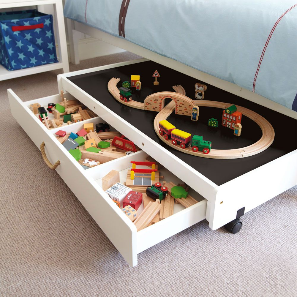 Underbed Play Table With Drawers The Table Will Fit Under Most
