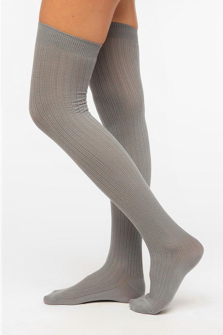 4c4a723dab4 Velvet Heart Textured Rib Thigh-High Sock  UrbanOutfitters