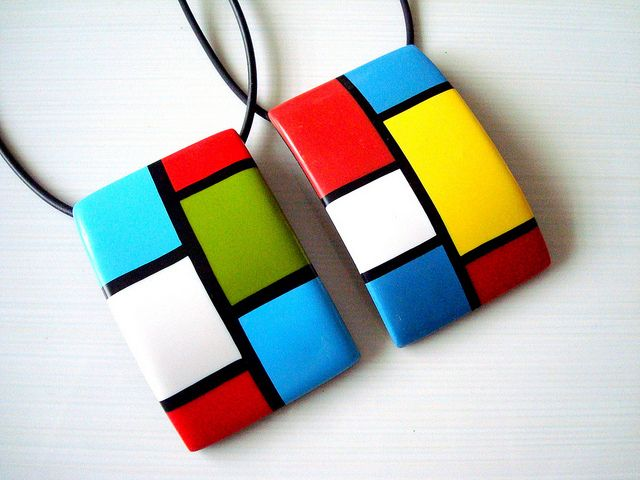 inspired by piet mondrian polymer clay jewelry sets more pinterest mondrian polymers. Black Bedroom Furniture Sets. Home Design Ideas