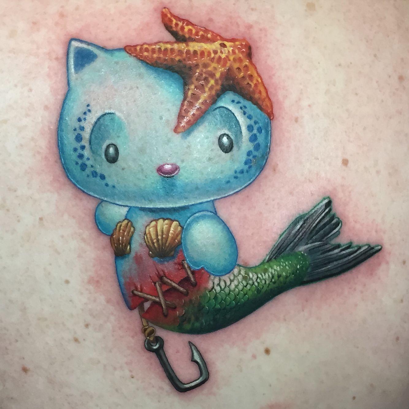 e758f343b My custom Mermaid Hello Kitty. Or, Mer-Kitty. #tattoo #tattoos #hellokitty  #cute #mermaid @tatu_chino