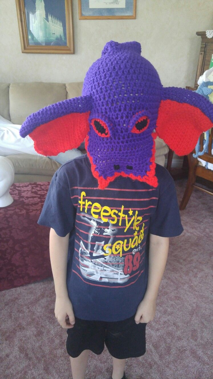 It was supposed to be Arbok Pokemon, but it looks more like a dragon. Silly grandma.