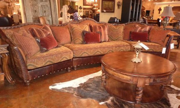 Curved Sofa From Paul Robert Austin Hill Country