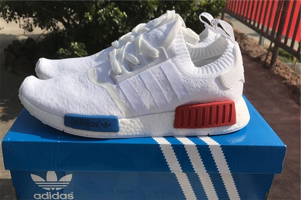 huge discount c8e4c 2c031 Adidas NMD Runner serious Boost S79482 White Red Blue | NMD ...