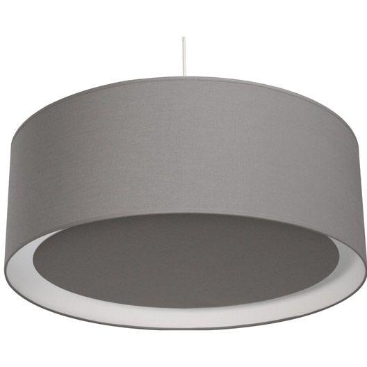 Suspension Essentiel INSPIRE, gris galet n°3, 60 watts, diam. 60 cm ...