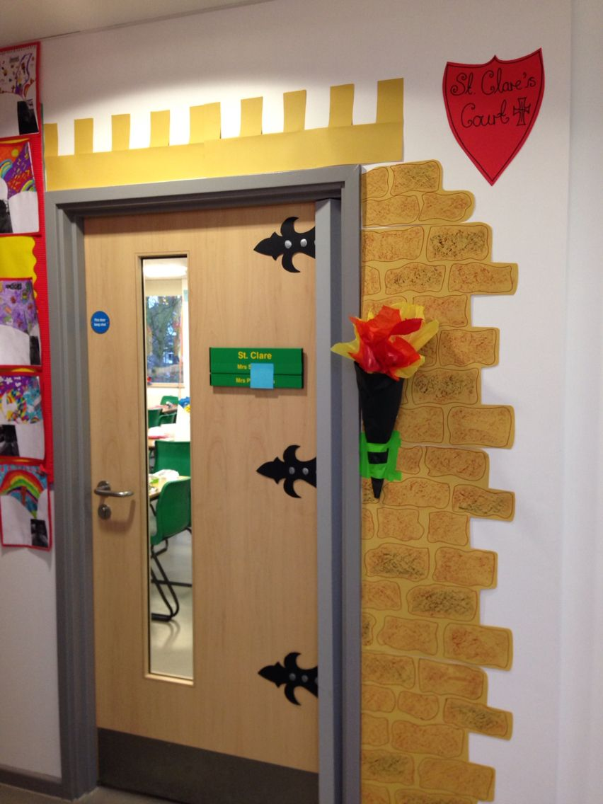 Classroom Window Decor ~ Castle classroom door decorating