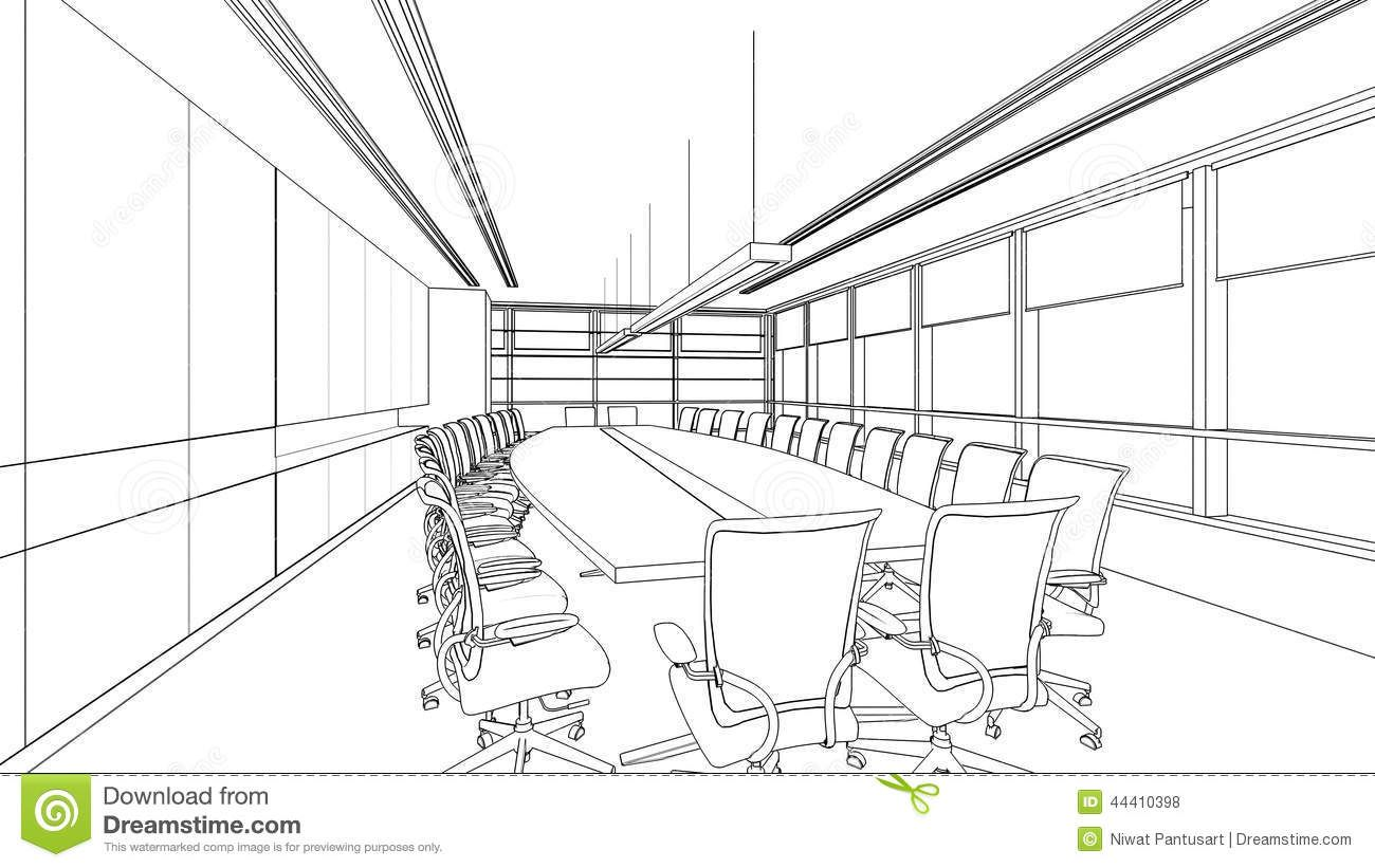 Image Result For Drawing Of A Conference Room