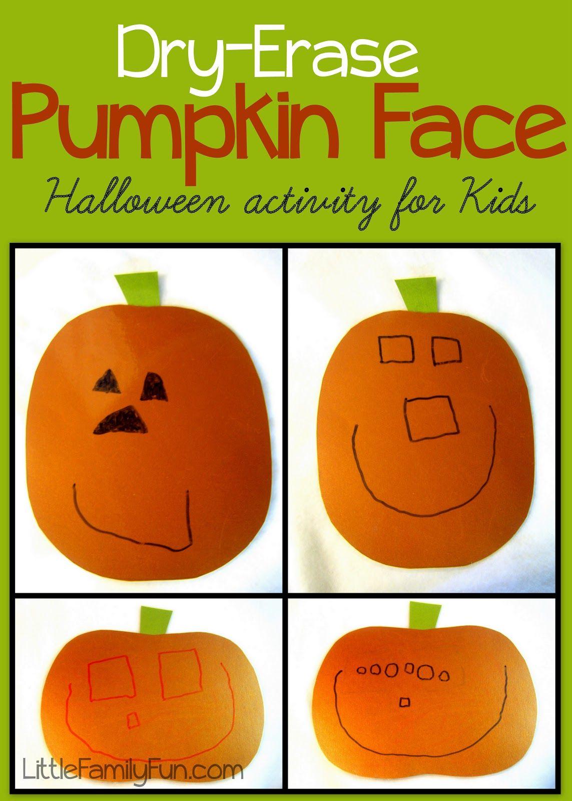 Dry Erase Pumpkin Face