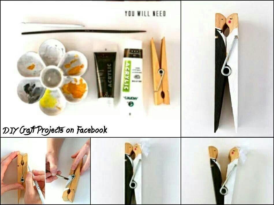 Bride n groom clothespin