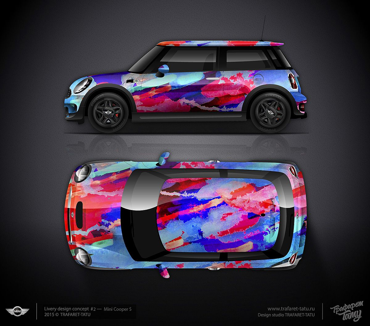 Design consept #2 Mini Cooper S for sale | Car wrap design ...