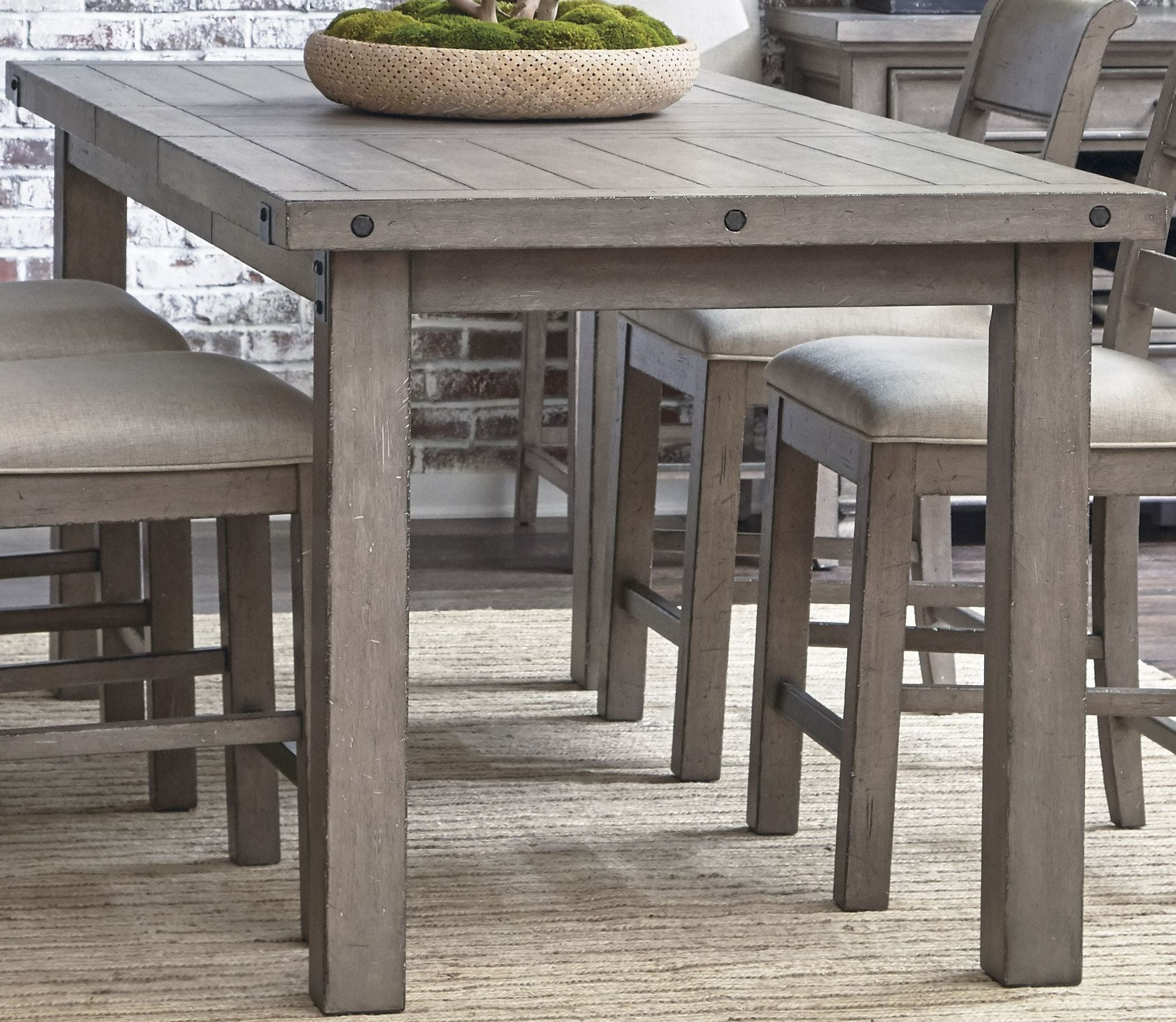 Country Kitchen Fairbanks: Prospect Hill Gray Rectangular Counter Height Dining Table