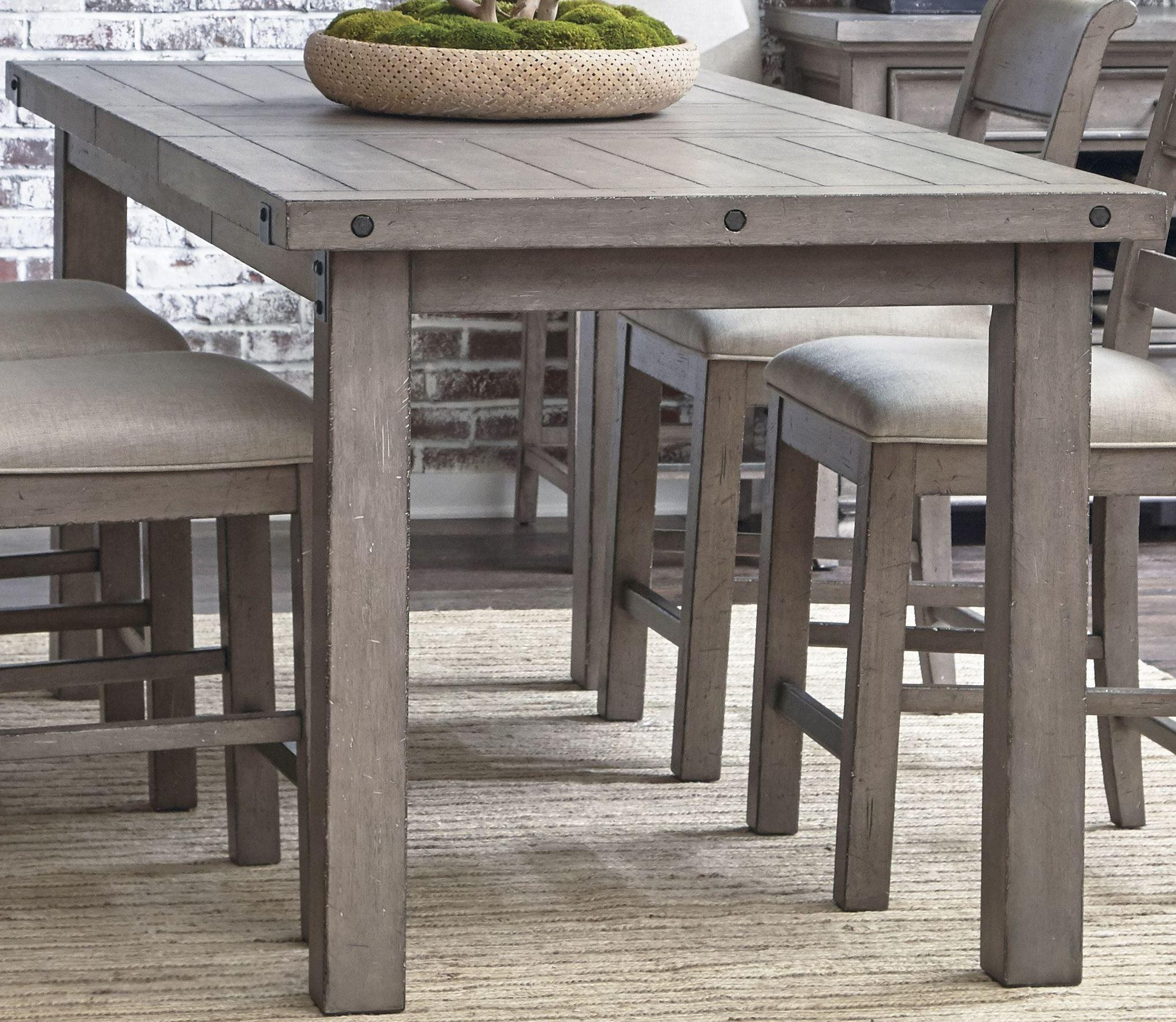 Prospect Hill Gray Rectangular Counter Height Dining Table Counter Height Dining Room Tables Grey Kitchen Table Counter Height Dining Sets