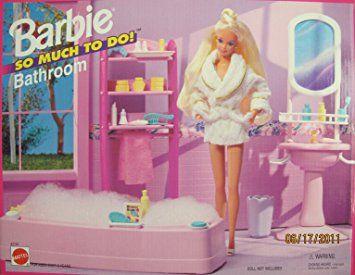 Barbie So Much To Do Bathroom Playset 1995 Arcotoys Mattel Barbie Badezimmer Mattel Barbie Und Barbies Puppen