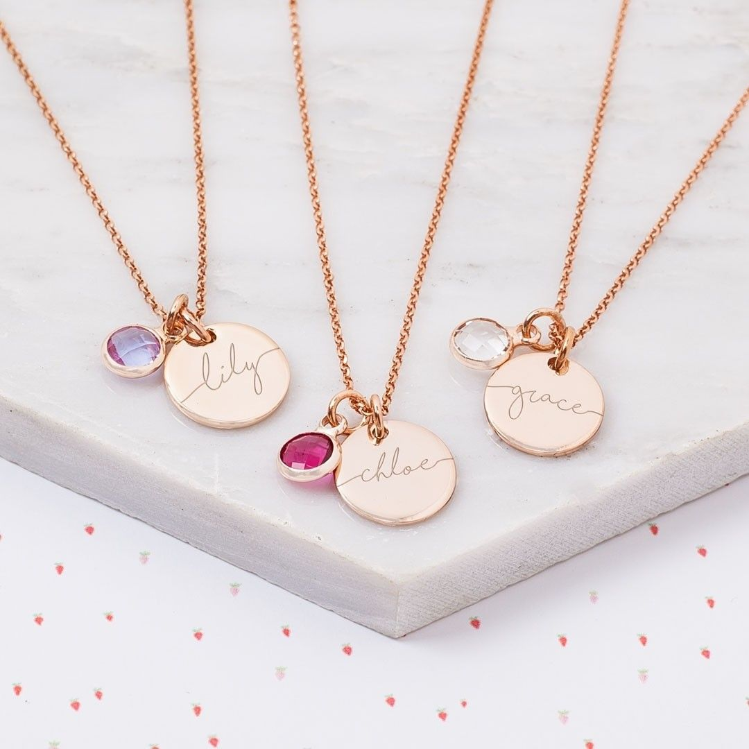 Mini Esme Sterling Silver Children's Name Necklace (With