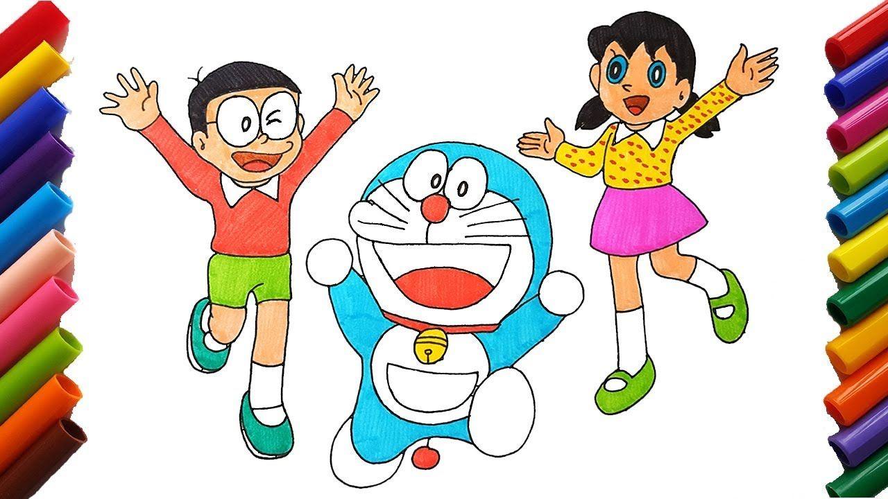 Vẽ Và Tô Màu Phim Hoạt Hình Doraemon Doraemon Nobita Shizuka Vẽ