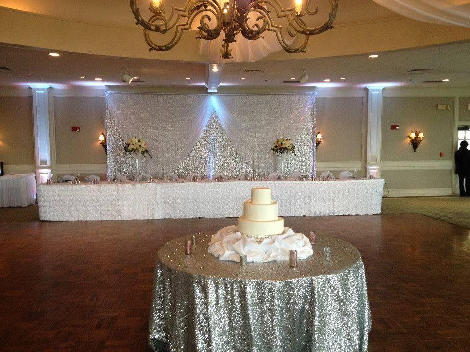 Silver Sequin Wedding Reception Backdrop Buffalo Templeton Landing