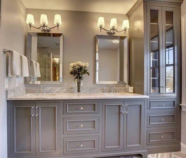Grey Bathroom Cabinets Grey Bathroom Ideas Greybathroom Cabinets Ideas Tags Grey Bathroom Master Bathroom Vanity Small Master Bathroom Trendy Bathroom