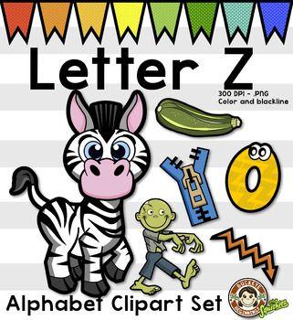 Alphabet Clip Art Letter Z Phonics Clipart Set Clip Art Clip Art Letter Z Lettering