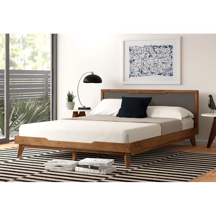 Abie Upholstered Platform Bed Wood platform bed