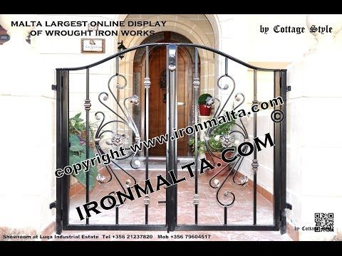 Home Front Wall Iron Gates Design Ideas Malta, Remodel and Decor Art ...