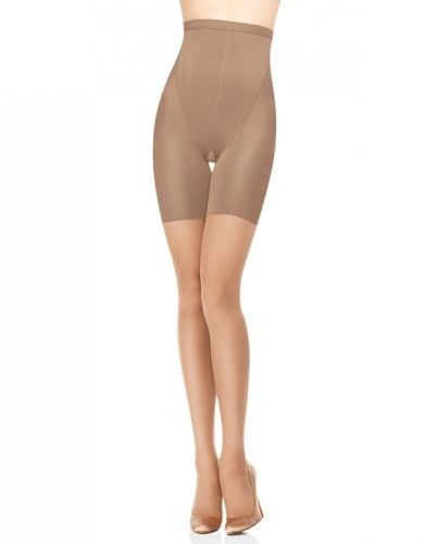74e099a8ebcd7 Spanx Women s In-Power Line Super High Shaping Sheers Pantyhose - Nude - B