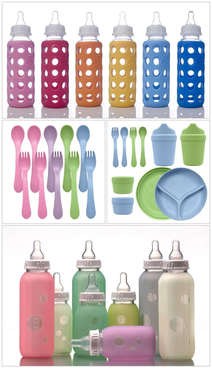 NonToxic Baby Feeding Sets Stainless Steel and Glass