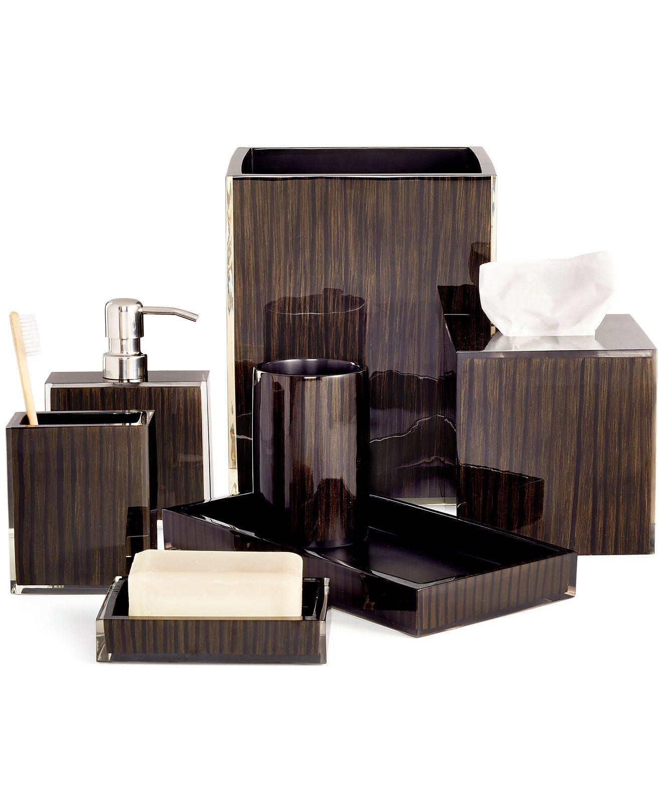 Hotel Collection Wood Veneer Only At Macy S Bathroom Accessories Bed Bath Set