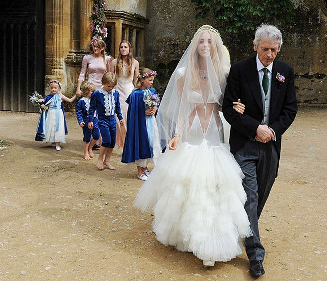 Mary Charteris On Her Pam Hogg Wedding Dress: | Weddings Celebrity ...