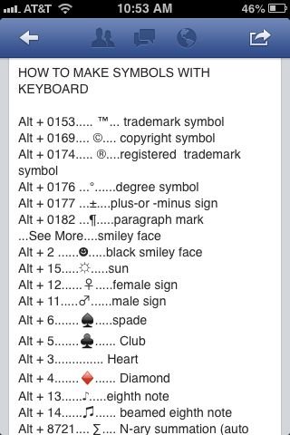 How to make symbols using your keyboard Household Tips and Tricks