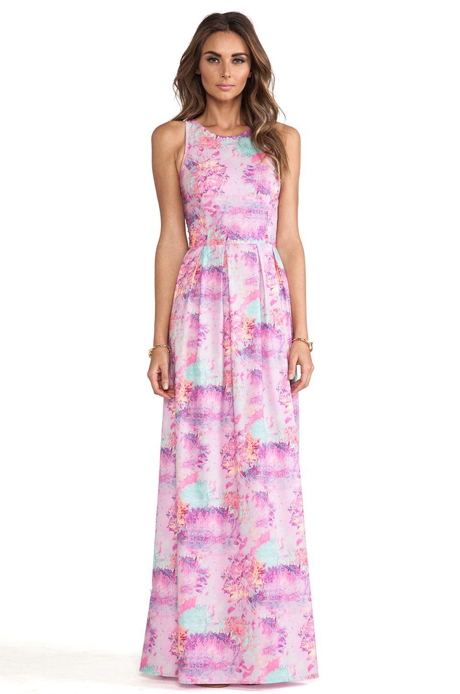 ISLA & LULU Ivory Gate Maxi Dress in Petal Print | Clothes I Like ...