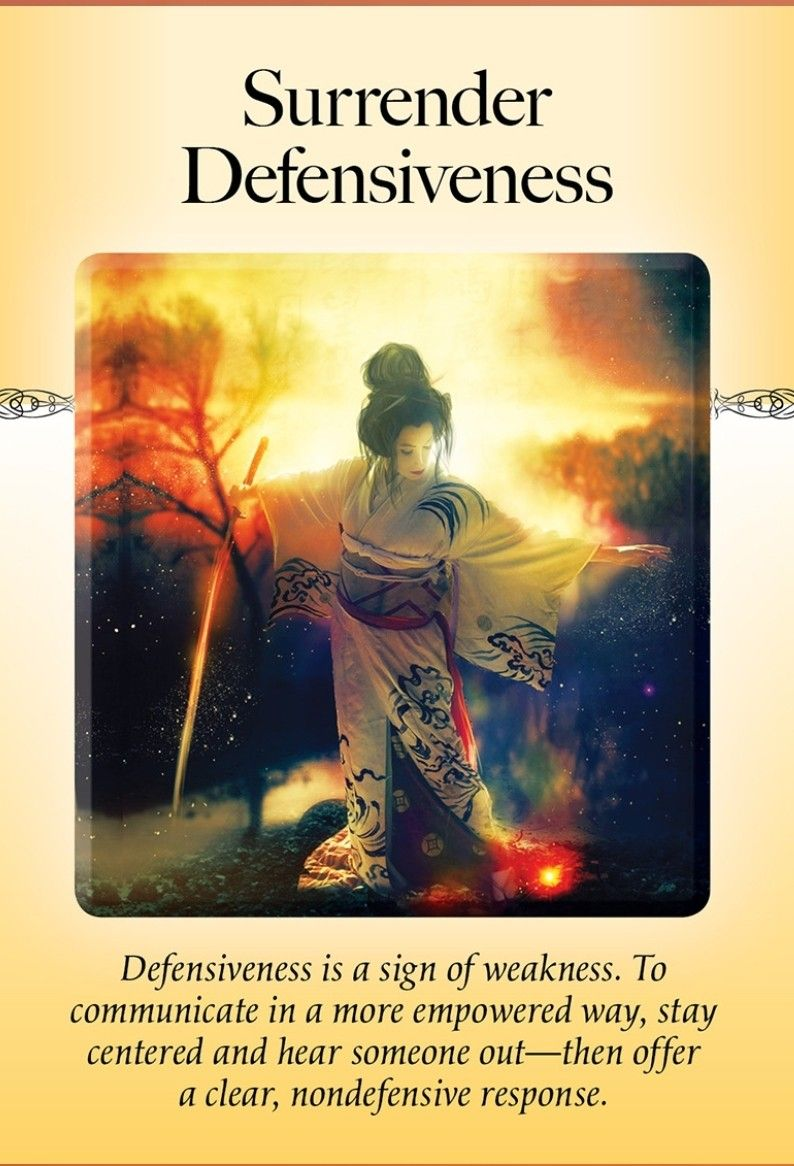Power Of Surrender Oracle Surrender Defensiveness Positive Affirmation Cards Spiritual Love Oracle Cards