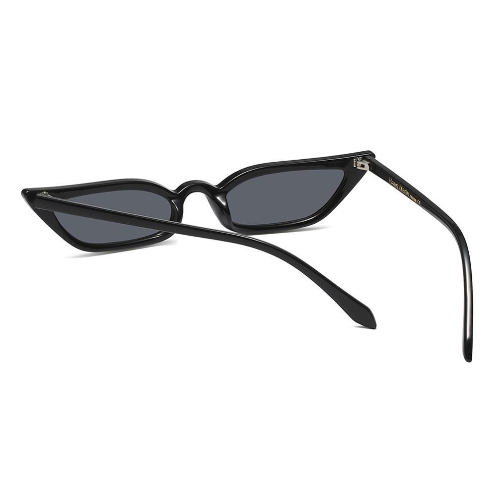 Peekaboo high quality red cat eye sunglasses women small frame black ...