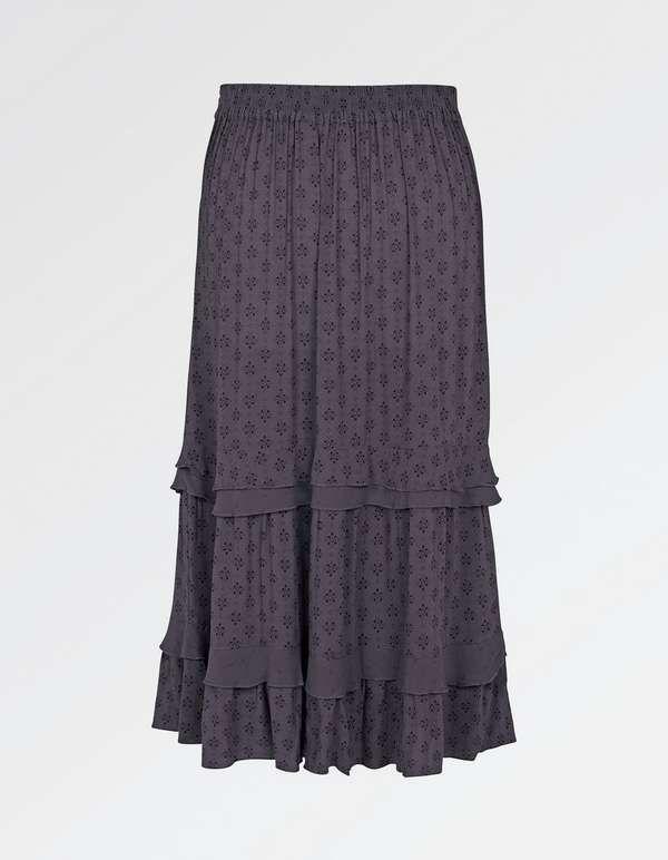 bebbfa99bc Jean Diamond Dot Tiered Skirt | Sewing Projects | Skirts, Dress ...