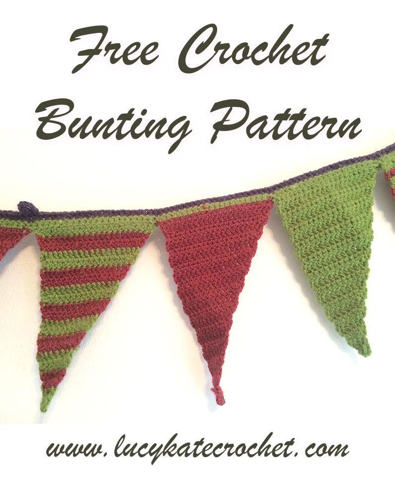 How To Crochet Bunting: Free Crochet Pattern